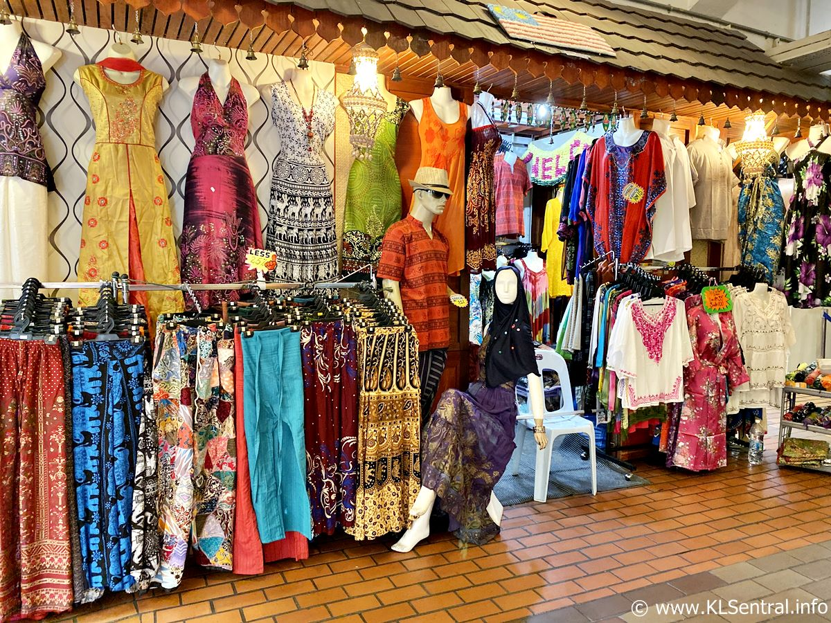 Dress and Batik cloths in Central Market Kuala Lumpur