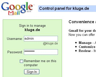 gmail for your domain