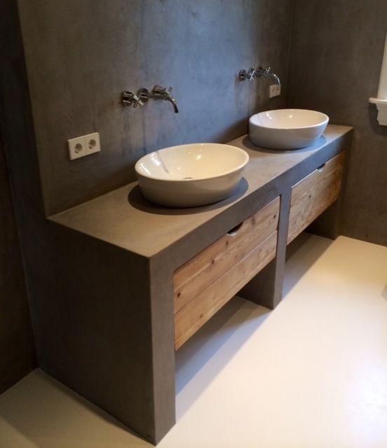 Badkamermeubel Zonder Wasbak : Badkamermeubel met betonnen wastafel goedkope meubels