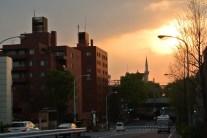 夕刻の、東京ジャーミー尖塔。ここ、今度覗きにいこうと思う。開かれたモスクみたいなので。