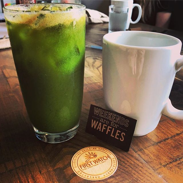 Weekends are for waffles.. and kale tonic.
