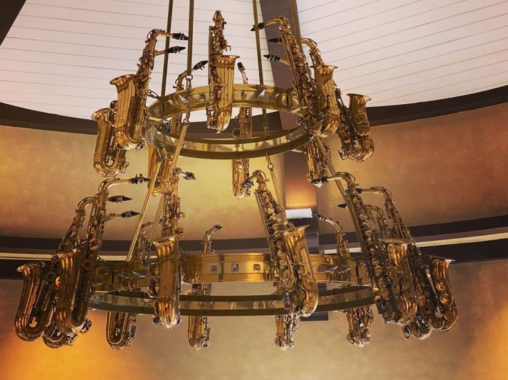 This chandelier at the Hard Rock is awesome