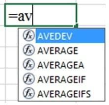 using average function