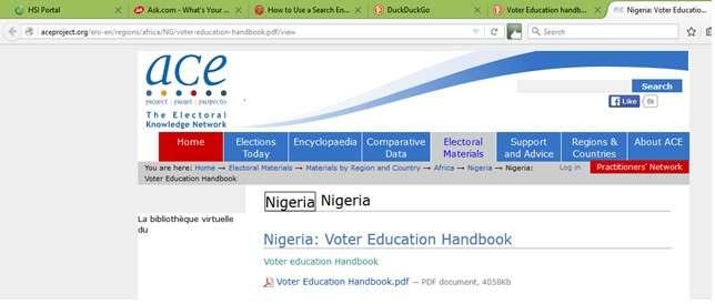 search result click