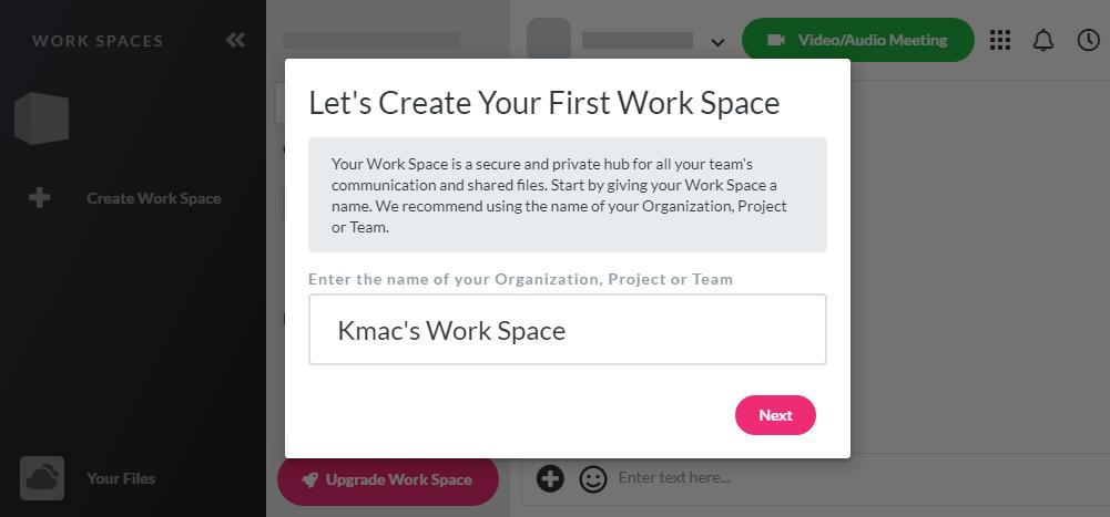 Otixo- create workspace