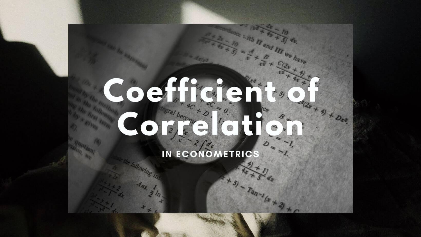 coefficient of correlation example