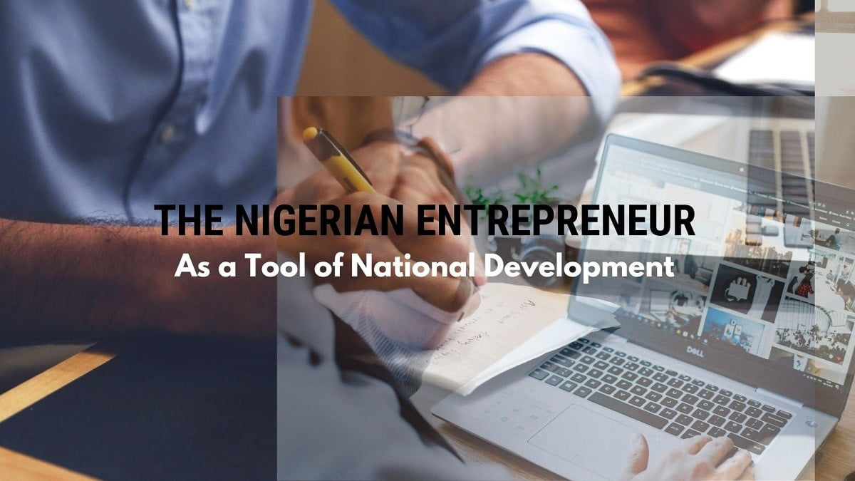 nigerian entrepreneur: a tool of national development