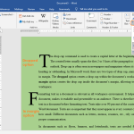 Formatting text in a document - adding drop cap