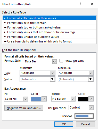managing conditional formatting rules