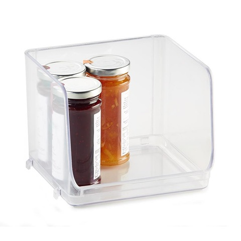 Stackable Pantry Tray Small Clear Kmart