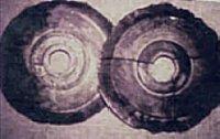 One of 'Wegener'' polaroids of two of the Dropa stones