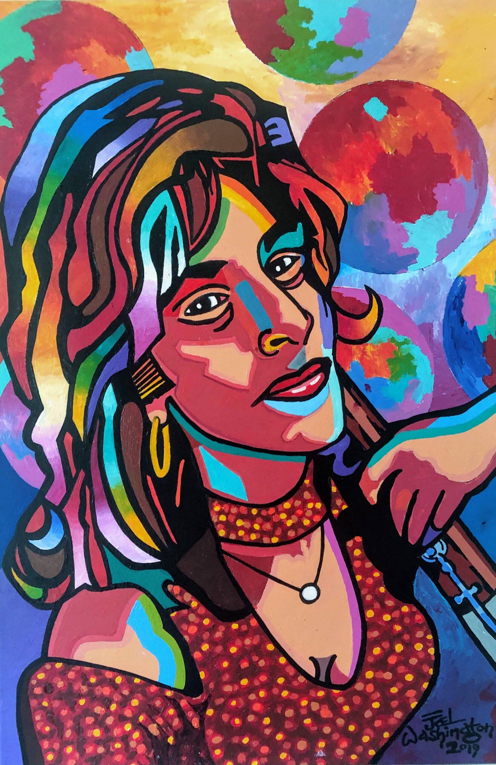Portrait Art of Kathleen McLean by Artist Joel Washington
