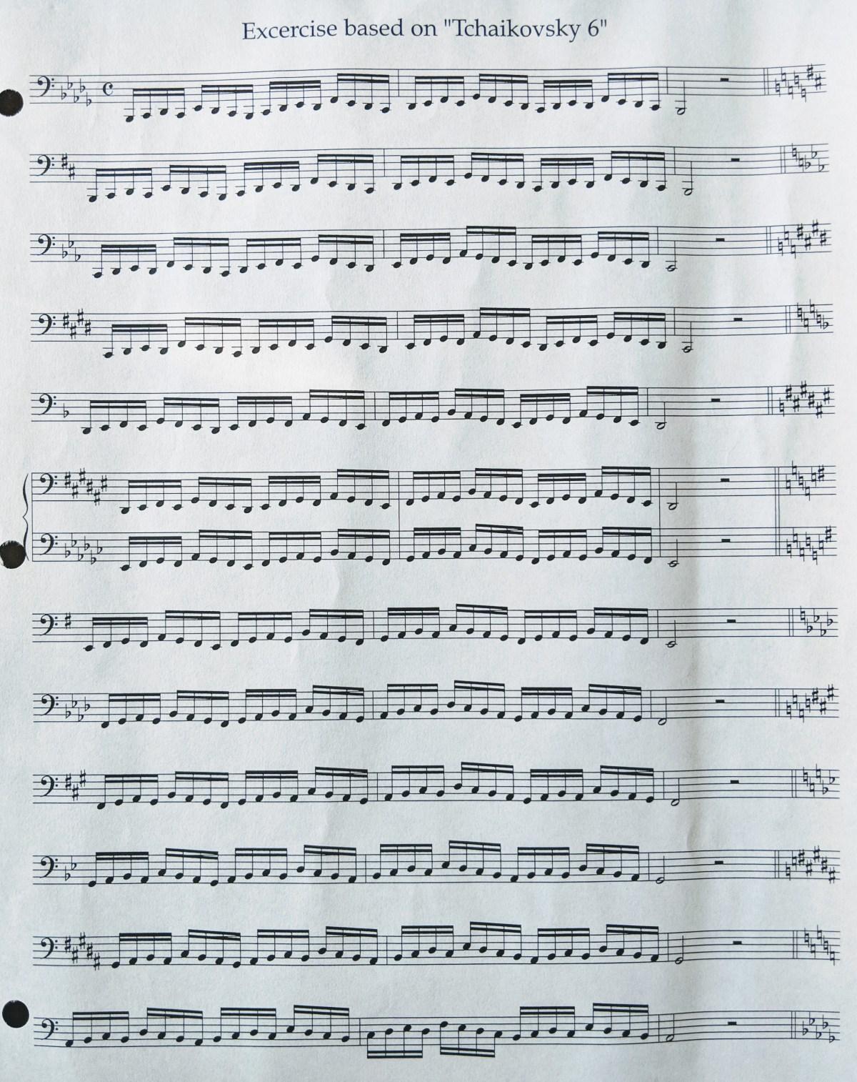 Exercise based on Tchaikovsky 6