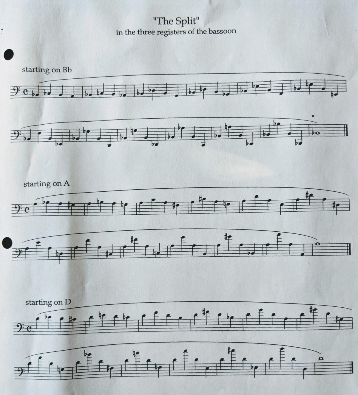 The Split - Three Registers Bassoon