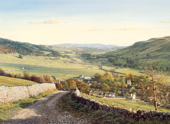 Kettlewell, Wharfedale, Yorkshire Dales. Painting Keith Melling