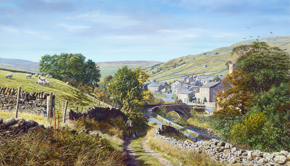 Muker, Swaledale - Yorkshire Dales. painting Keith Melling