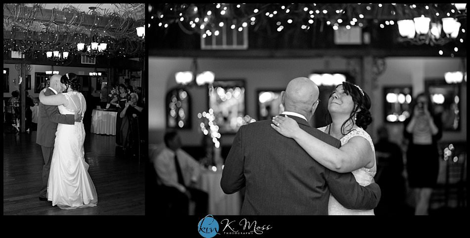 sincerity bridal-blackhorsevideography-stroudsburg pa wedding photographer - spring wedding - april wedding- father daughter dance - bride crying while dancing
