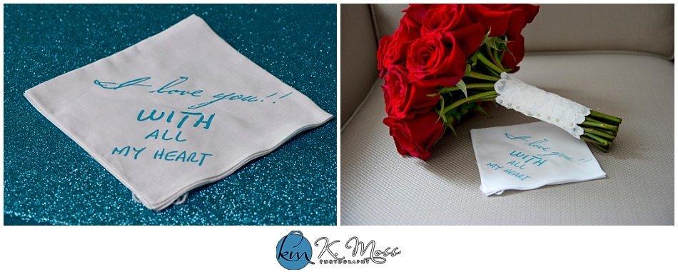 personalized wedding handkerchief | K. Moss Photography