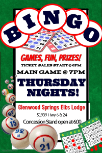 Bingo @ Glenwood Springs Elks Lodge |  |  |