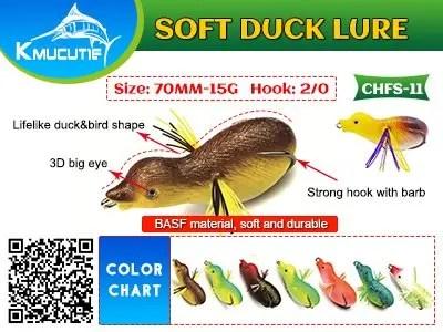Kmucutie soft duck lure
