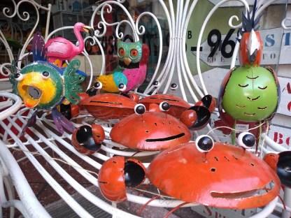 Gufo Pesce Granchio Pappagallo Fenicottero Portacandela Portazampirone Decorazione Metallo Colorato - KMV Home Store stocKMarket