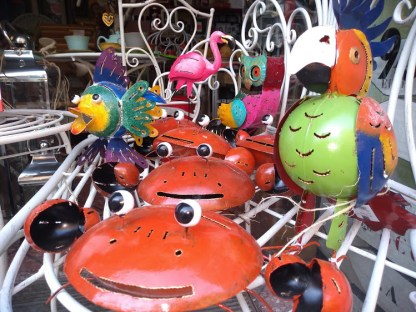 Pesce Civetta Granchio Pappagallo Fenicottero Portacandela Portazampirone Decorazione Metallo Colorato - KMV Home Store stocKMarket