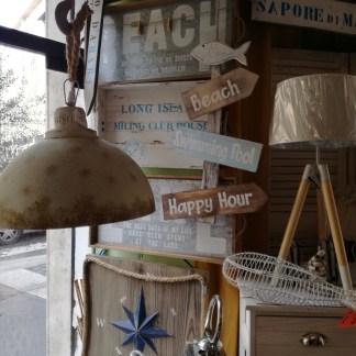 Insegna Cartelli Frecce Mare Piscina Spiaggia Happy Hour Legno - KMV Home Store stocKMarket