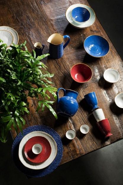 Piatto Piano Fondo Dessert Rosso Gres Porcellanato Toscana - KMV Home Store stocKMarket