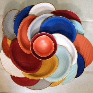 Piatto Piano Fondo Dessert e Accessori Gres Porcellanato - KMV Home Store stocKMarket