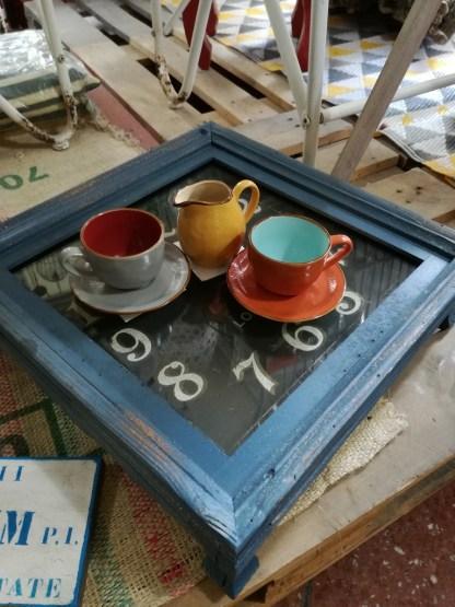 Tazza Tea Piattino Gres Porcellanato Colorato Toscana - KMV Home Store stocKMarket