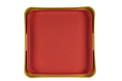 Vassoio Quadrato Colorato Resina Maniglia - KMV Home Store stocKMarket