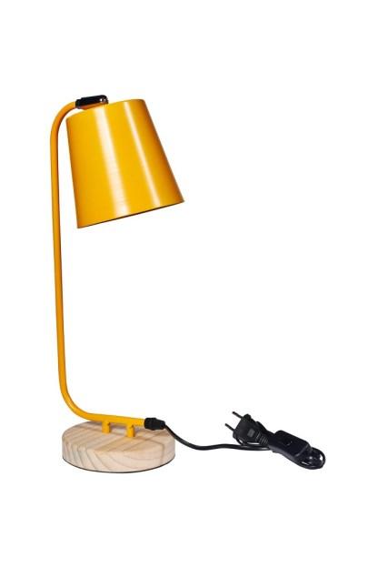 Lampada Abat Jour Gialla Metallo - KMV Home Store - stocKMarket