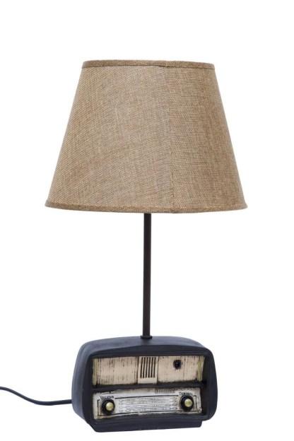 Lampada Abat Jour Radio Vintage Resina - KMV Home Store stocKMarket