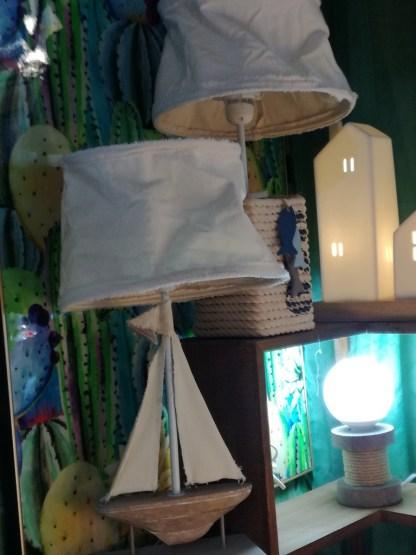 Lampada Abat Jour Sailing Barca Vela - KMV Home Store stocKMarket