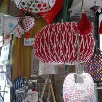 Lampadario Origami Rosso Bianco - KMV Home Store stocKMarket