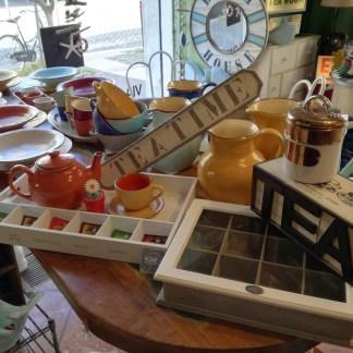 Scatola Tea Box 12 Scomparti Coperchio Vetro Legno - KMV Home Store stocKMarket