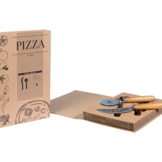 Set Pizza Coltello Tagliapizza Custodia Libro - KMV Home Store stocKMarket