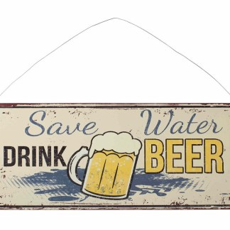 Insegna Targa Cartello Beer Metallo Rilievo - KMV Home Store stocKMarket