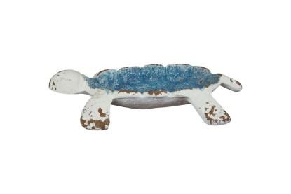 Tartaruga Bianca Blue Ghisa Svuotatasche Portagioie Posacenere - KMV Home Store stocKMarket