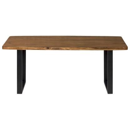 Tavolo Ovale Rettangolare Zamami Legno Massello Metallo - KMV Home Store stocKMarket