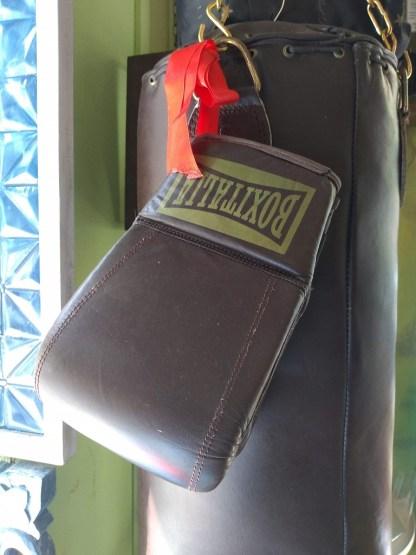 Set Sacco Guanti Pugilato Boxe Allenamento Sparring Pelle Vintage Retrò - KMV Home Store stocKMarket