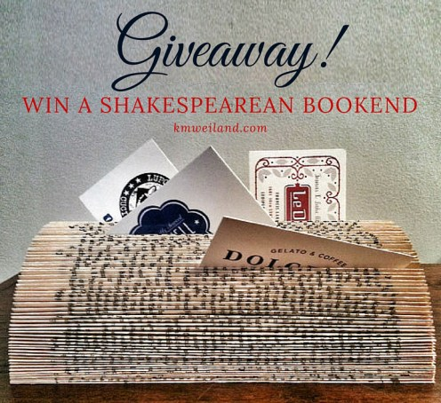 Giveaway! Win a Shakespearean Bookend