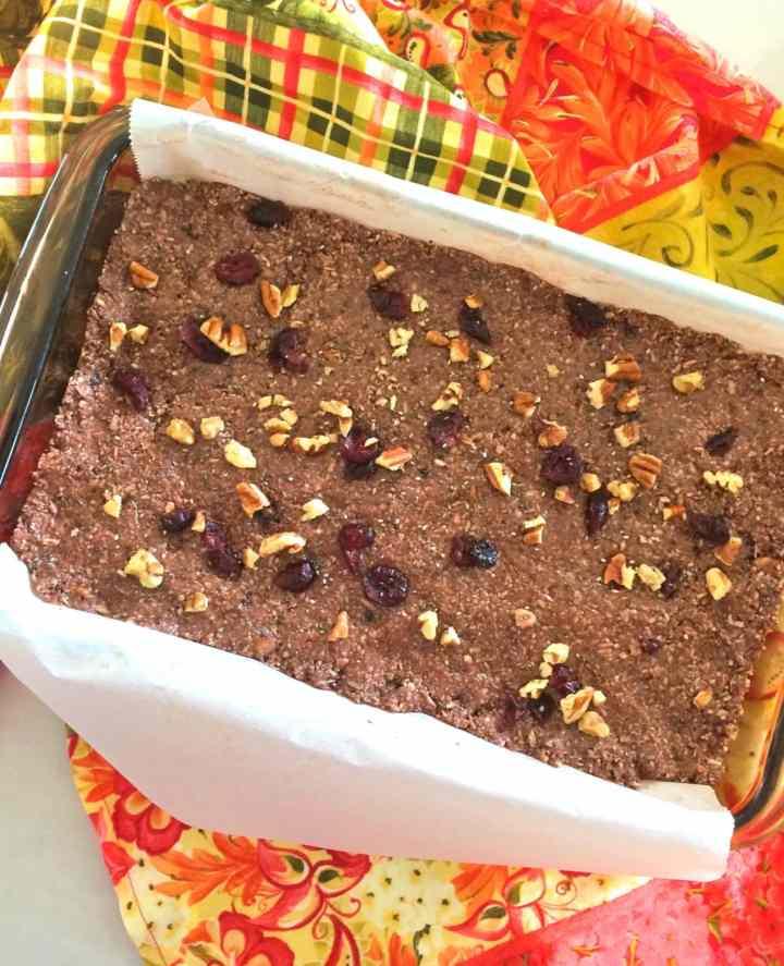 Chocolate Cranberry Pecan Energy Bars