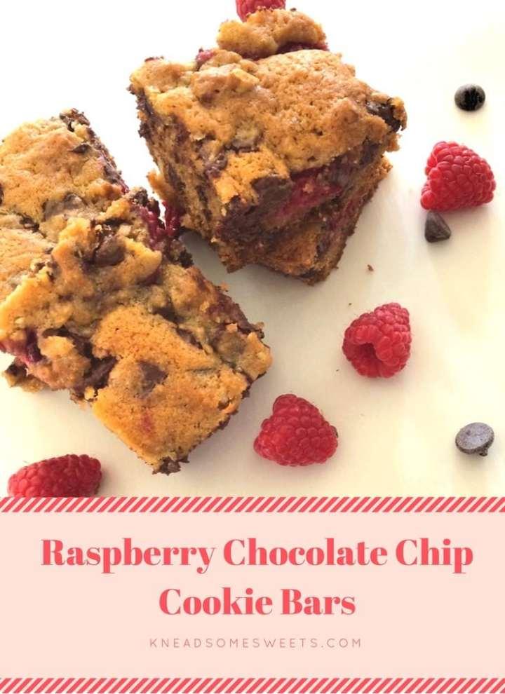 Raspberry Chocolate Chip Cookie Bars