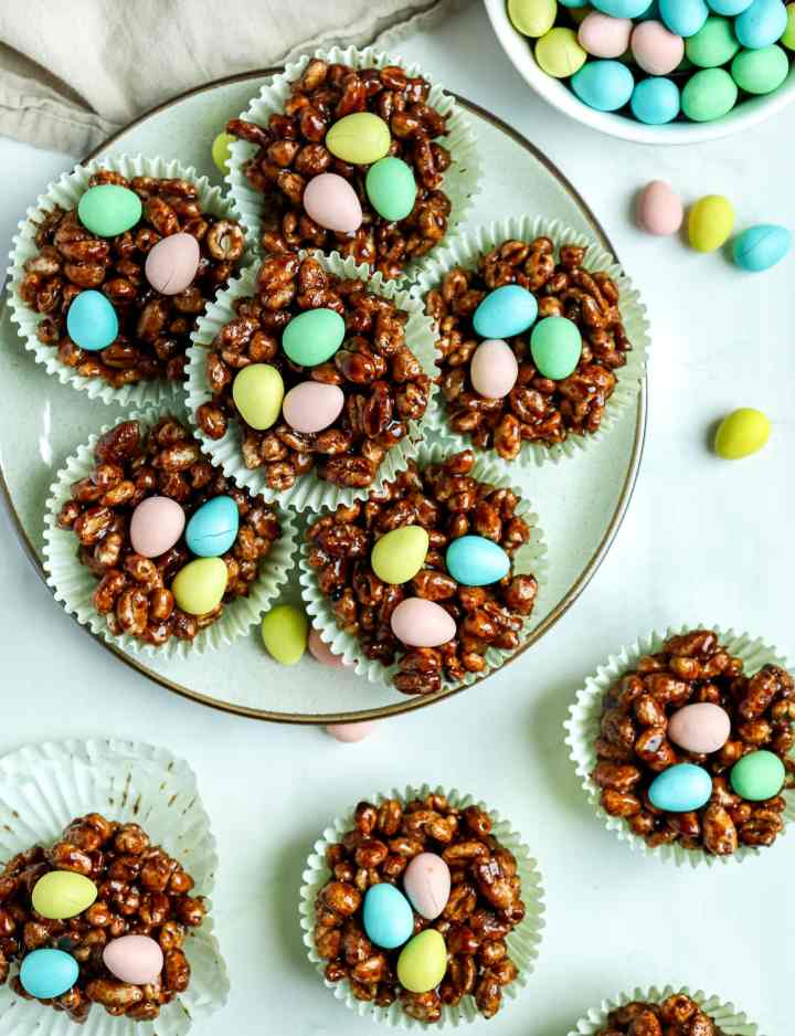 Puffed Wheat Cookie Nests