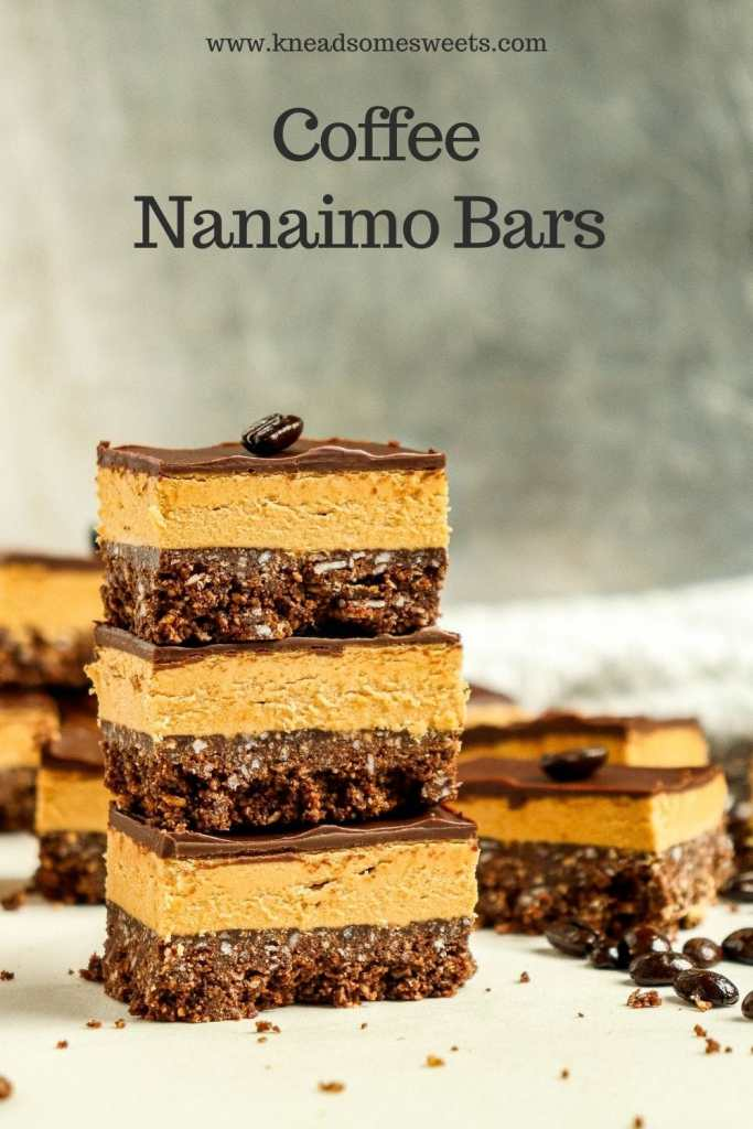 stack of coffee flavoured Nanaimo bars