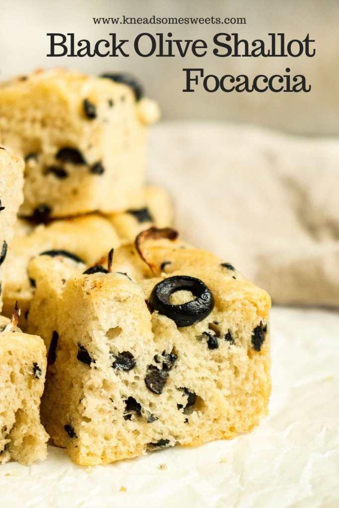 Black Olive Shallot Focaccia bread