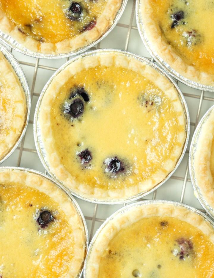blueberry custard tarts