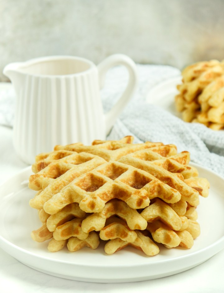 stack of Easy Homemade Waffles