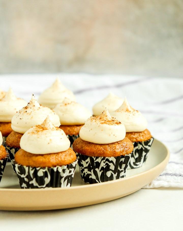 mini cupcake on a plate